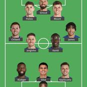 Giroud in, Kante in, Kovacic out: formation showing how Chelsea could lineup against Porto.