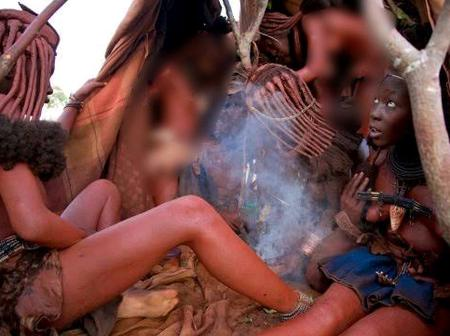'See Why The Ladies Of This African Tribe Don't Bath With Water, This Is What They Do To Male Guests