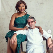 Laura Ikeji, others react as Ufuoma McDermott flaunts her hubby as they celebrate their anniversary.