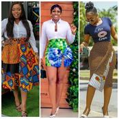 Ladies, Check Out Beautiful Skirts Made With Adire And Ankara Fabrics That May Inspire You