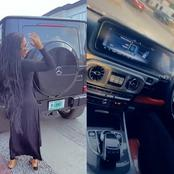 More Photos Of Mercy Eke With Her Cars
