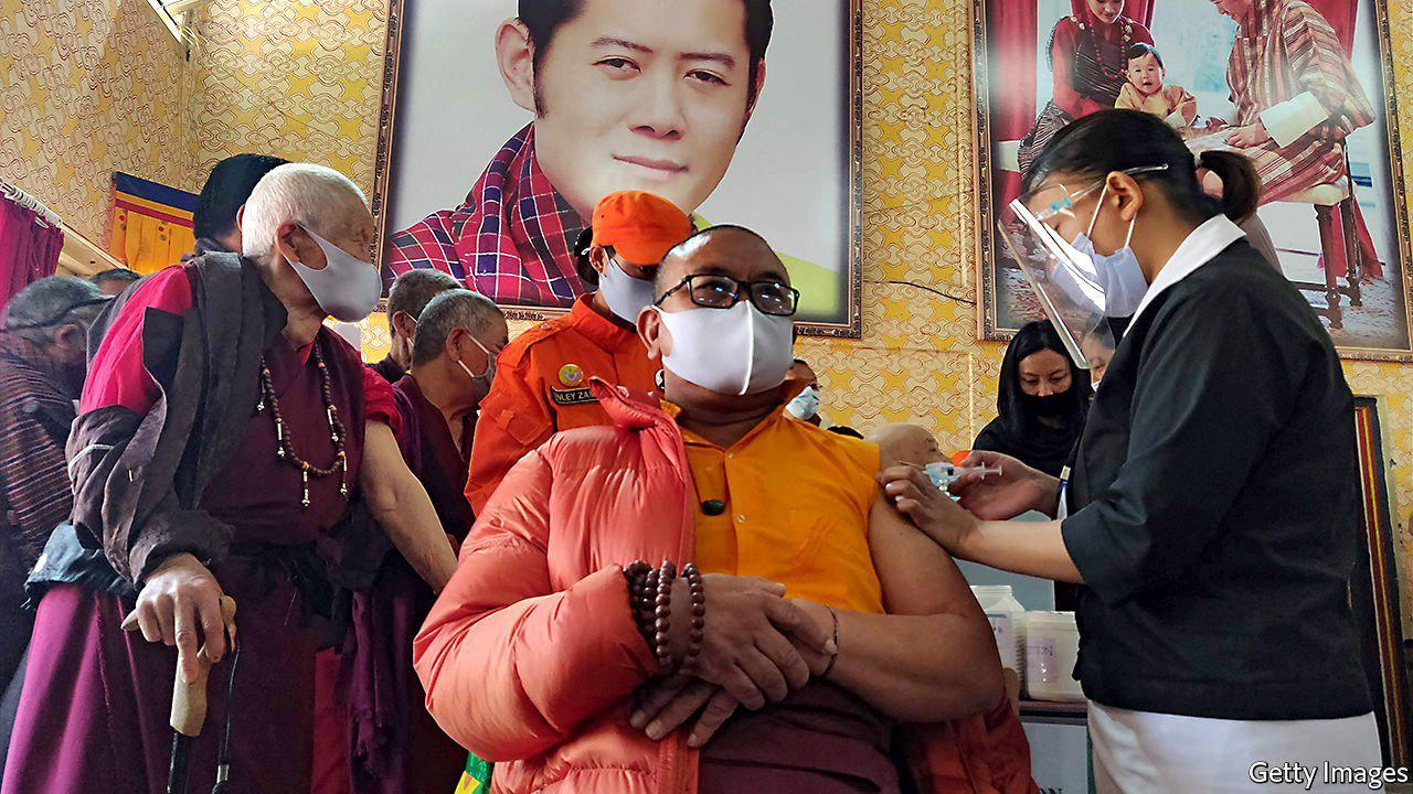 Bhutan vaccinated almost all adults against covid-19 in a week