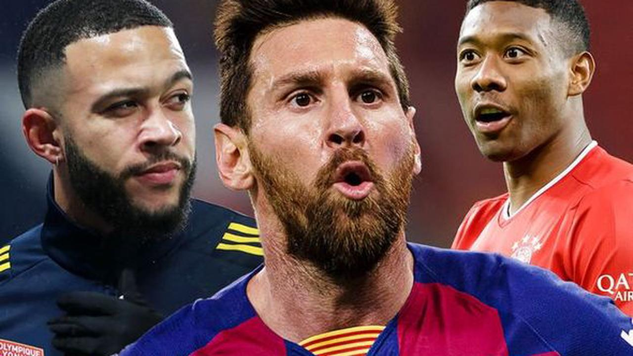 The 10 top stars Premier League clubs could sign for free including Lionel Messi