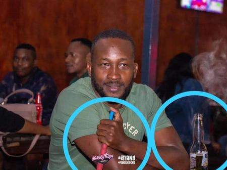 Meneer Magongwa holding some bubbly pipe and social media couldn't stop talking about his picture