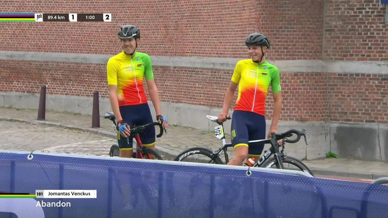 2021 Road World Championships - 'Out of the race!' – Lithuanian riders turn up late for World Champs race, given DNS