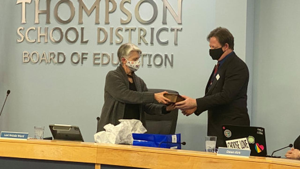 Marc Seter honored during last meeting on Thompson school board