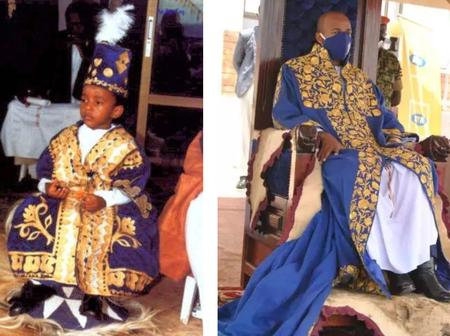 At Age Of 3, He Became A Crown King, See The Recent Photos Of King Oyo Nyimba After 25 Years.
