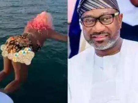 I'm Sorry Papa'' – DJ Cuppy Apologies to Her Dad After She Jumped into The Sea (Photos)