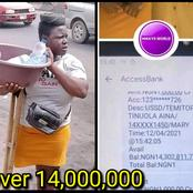Check Out The Amount Donated To The Amputee Lady Hawking Bottle Water That Went Viral (PHOTOS)