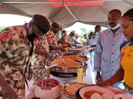 Photos Of Chief Of Army Staff Celebrating Easter Festival With Troops In Maiduguri