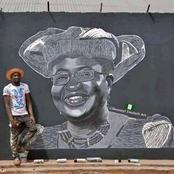 A Street Artist Creates Mural Of Okonjo-Iweala To Mark First Day As WTO Boss