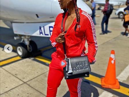 DJ Lamiez Holworthy aka Khuli Chana's wife expresses how she hates early flights.