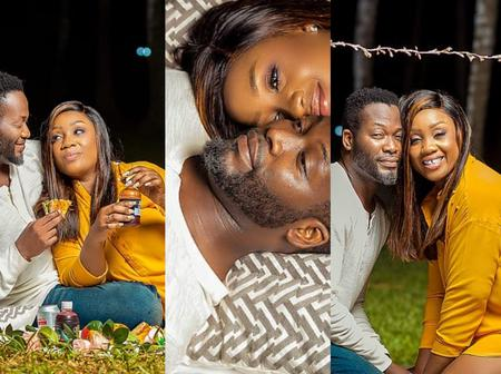 Romantic photos of Adjetey Anang and wife causes stir online as the celebrate 14 years of marriage