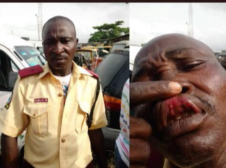 PHOTOS: How Naval officers Physically Assault LASTMA Official In Lagos State