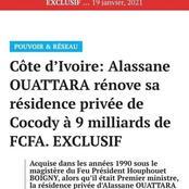 Un journal fait des révélations sur les coûts de rénovation de la résidence privée d'Ado