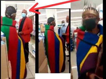 Moment When Shop Owner Drove A Man Out Of His Shop Because He Was Wearing A Traditional Cloth (Video)
