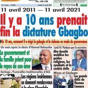 """""""Il y'a 10 ans prenait fin la dictature Gbagbo"""": le titre du patriote qui suscite des débats"""