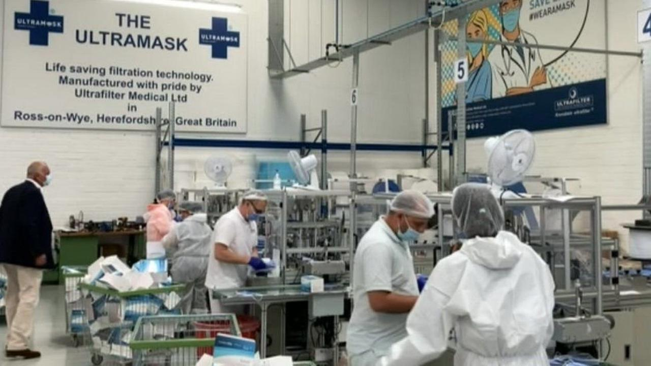 Covid: Ross-on-Wye masks factory employs those who lost jobs to virus