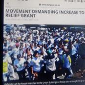 Movement Demanding R350 grant to increase to R500
