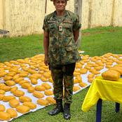 See Photos Of A Fake Army Major In A Fake Military Van Arrested With Packs Of Compressed Weeds
