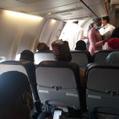 Pics :  Man Expresses Concerns After Arik Air Parked Them Like Sardines In a Plane Amidst Rising Covid-19