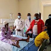 Nairobi Ex-Governor Mike Sonko Visits Beatrice Makhoka After Surgery At MTRH Eldoret