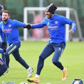 See Photos Of Arsenal Players in training as they prepare to play Newcastle tomorrow