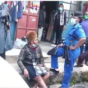 Several Men Down! Police Fail To Arrest A Woman In Nakuru As She Threatens To Strip Naked