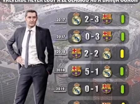 The Only Manager That Never Lost An El Clasico Game As Barcelona's Manager In The 21st Century