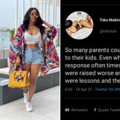 Actress Toke Makinwa Shared Her Views On How Nigerian Parents Are Raising Their Children