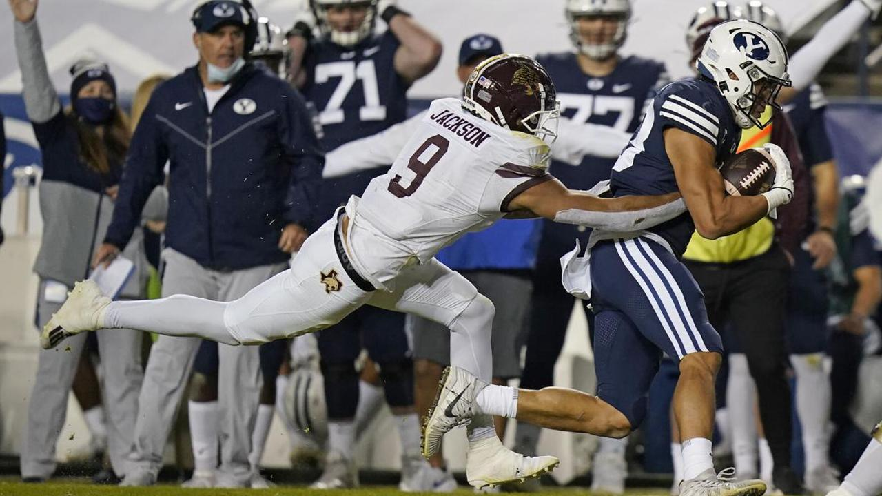 Wilson leads No. 12 BYU past Texas State 52-14
