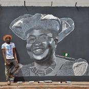 Reaction as Street Artist Creates Mural of Okonjo-Iweala to Mark First Day As WTO Boss