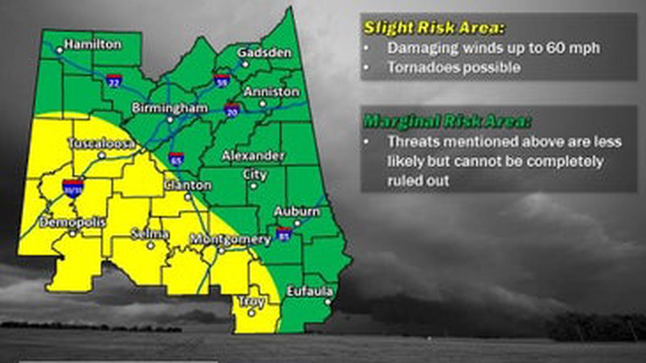 Severe Storms Possible In Alabama New Year's Eve