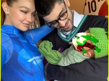Gigi Hadid shares first family photo with boyfriend Zayn Malik holding their one-month-old daughter