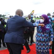 President Samia Suluhu Unusual Thing She Did While In Uganda