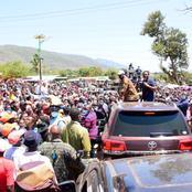 Raila Odinga Receives Massive Welcoming in Taita Taveta as he Makes his First Rally Today