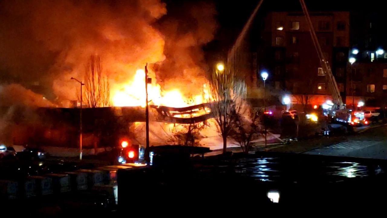 Multiple businesses destroyed in strip mall fire in Seattle's Lake City neighborhood