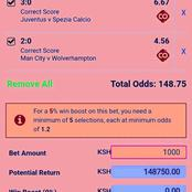 Win Massively Tonight With These GG,Over 2.5 Goals And Correct Score(CS) VIP Multibets