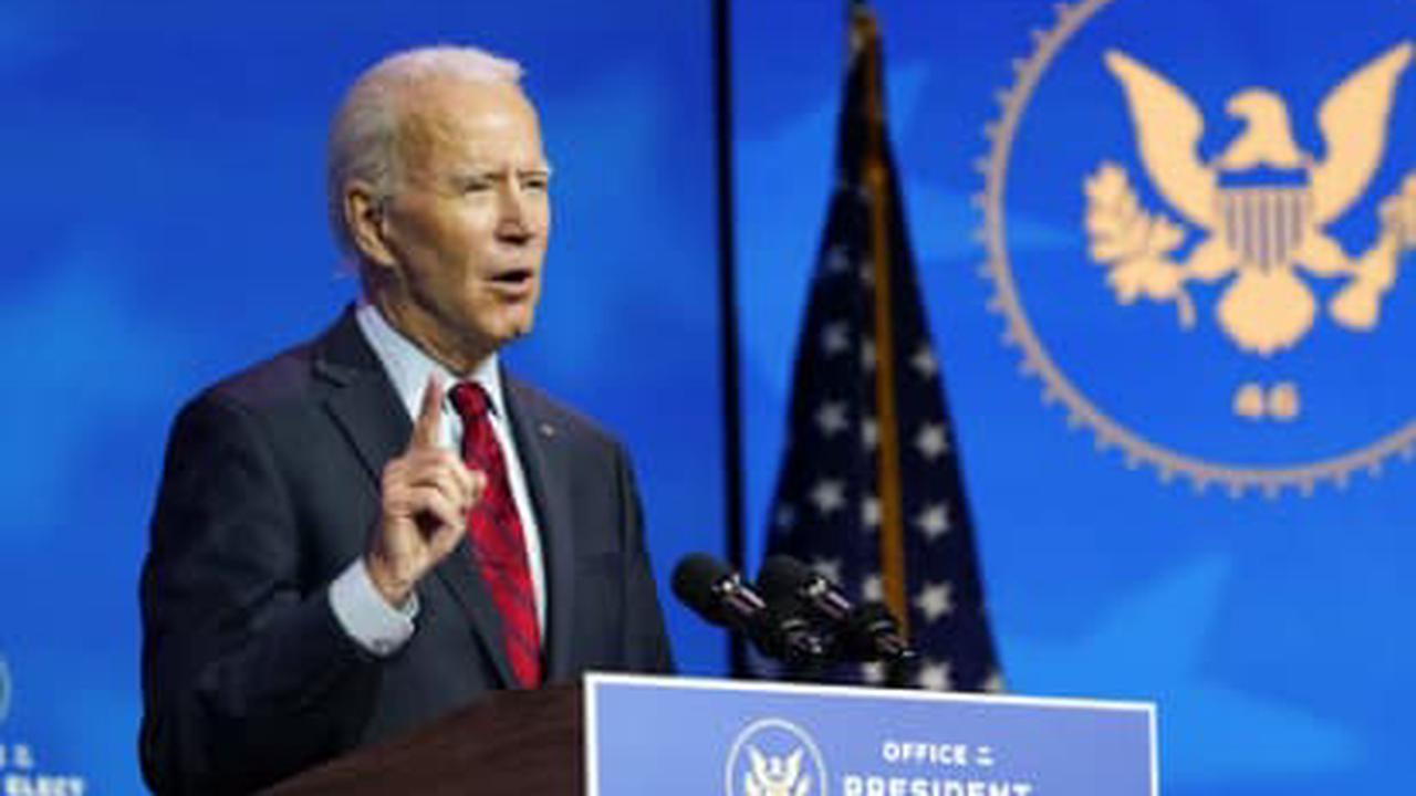 The Latest: Biden vows 100 million shots in first 100 days