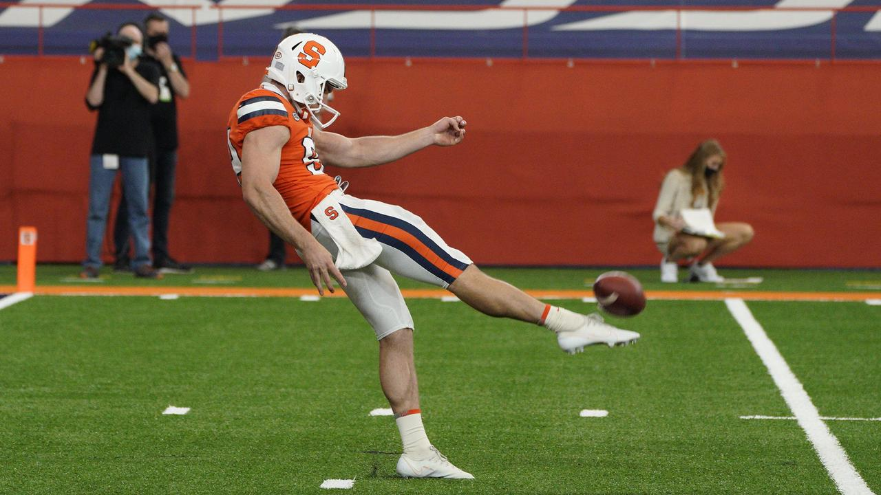 Syracuse punter Nolan Cooney overcame cancer at 16, leads ACC in yards