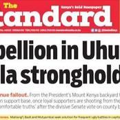 Rebellion In Uhuru-Raila Strongholds
