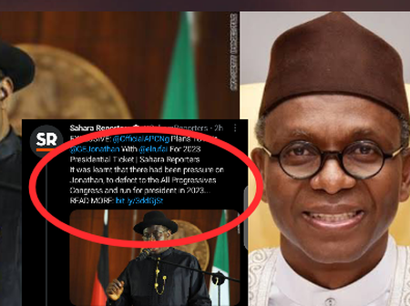 2023: See What Sahara Reporters Posted About Jonathan And El-Rufai That Sparked Reactions